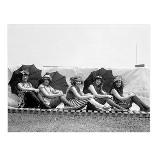 Lansburg Bathing Girls: 1922 Postcard