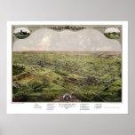 Lansing, MI Panoramic Map - 1866 Poster