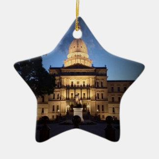 Lansing MI Star Ornament