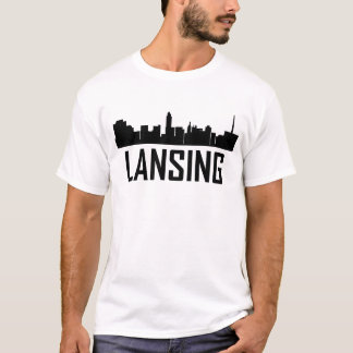 Lansing Michigan City Skyline T-Shirt