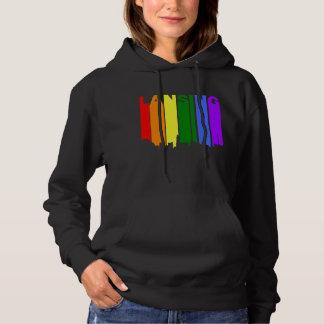Lansing Michigan Gay Pride Rainbow Skyline Hoodie