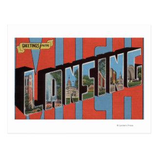 Lansing, Michigan - Large Letter Scenes 2 Postcard