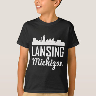Lansing Michigan Skyline T-Shirt