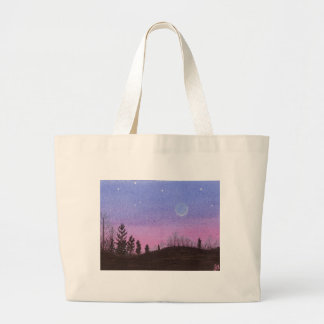 Lansing Moon and Stars Large Tote Bag