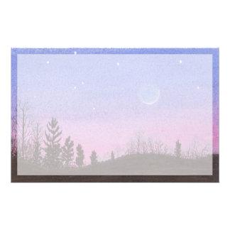 Lansing Moon & Stars Stationery
