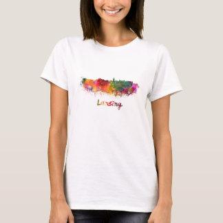 Lansing skyline in watercolor T-Shirt