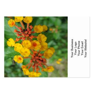 Lantana Garden Flower Yellow Business Card Template