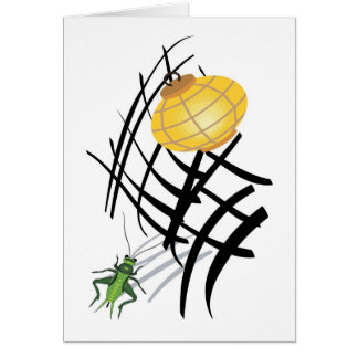 Lantern and Hopper Greeting Card