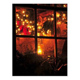Lantern at Night Postcard