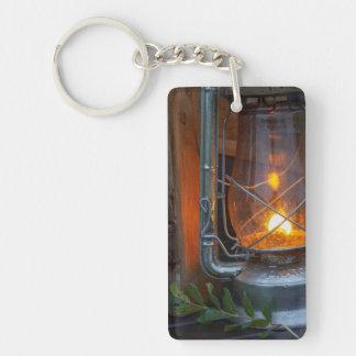 Lantern At Plains Camp, Kruger National Park Double-Sided Rectangular Acrylic Key Ring