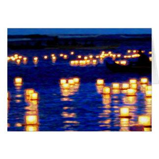 Lantern Floating Festival Greeting Card