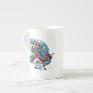 Lantern Fox in the Snow~mug Tea Cup