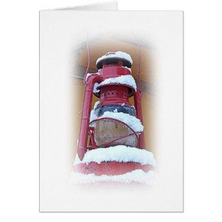 Lantern In The Snow Card