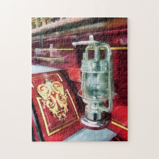 Lantern on Old Fire Truck Jigsaw Puzzle
