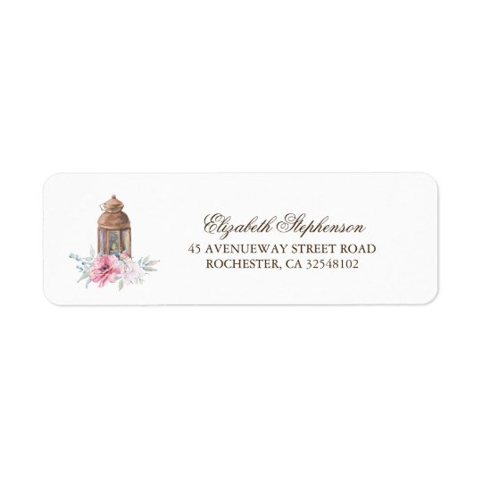 Lantern Return Address Label