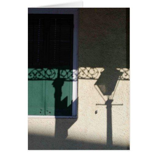 Lantern shadow French Quarter, NOLA Cards