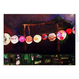 lanterns and pergula greeting card