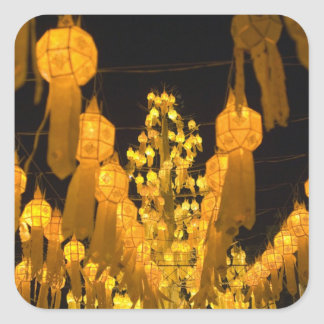 Lanterns for Loi Krathong festival. Square Sticker