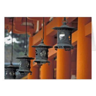 Lanterns hanging from the Heian-jingu Shrine, Greeting Card