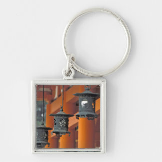 Lanterns hanging from the Heian-jingu Shrine, Silver-Colored Square Key Ring