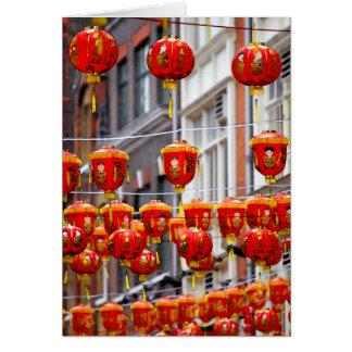 Lanterns in Chinatown, London Greeting Card