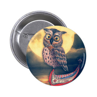 Lanyu Scops Owl with Traditional Canoe Button