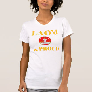 LAO d PROUD Ladies Twofer Sheer Fitted Tshirts