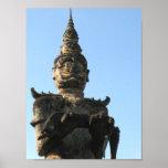 Lao Giant Demon ... Buddha Park, Vientiane, Laos