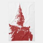 Lao Giant Demon ... Buddha Park, Vientiane, Laos Towels