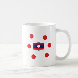 Lao (Laotian) Language And Laos Flag Coffee Mug