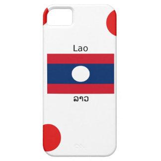 Lao (Laotian) Language And Laos Flag iPhone 5 Cases
