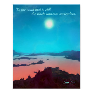 Lao Tzu Custom Quote Aquarius Prime Scifi Poster
