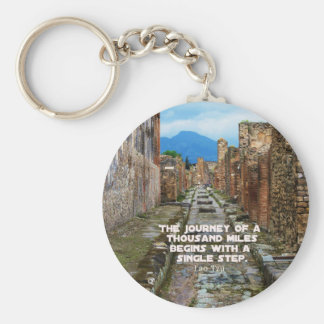 Lao Tzu JOURNEY travel quote Key Ring