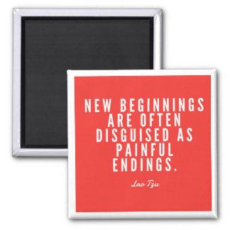 Lao Tzu New Beginnings Magnet