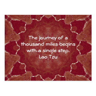 Lao Tzu Wisdom Motivational Quotation Saying Postcard