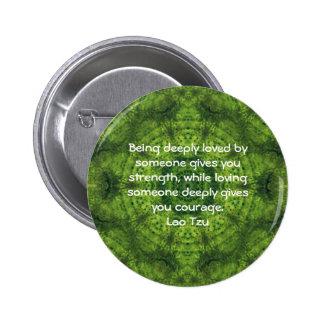 Lao Tzu Wisdom Quotation Saying 6 Cm Round Badge