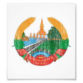 Laos Coat Of Arms Photographic Print