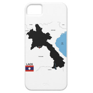 laos country political map flag iPhone 5 cases