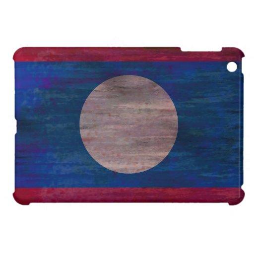 Laos distressed flag cover for the iPad mini