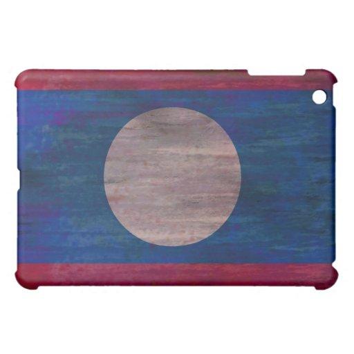 Laos distressed flag iPad mini cases
