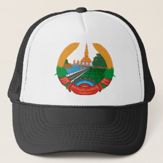 laos emblem trucker hat