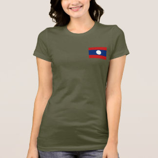 Laos Flag and Map dk T-Shirt