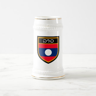 Laos Flag Beer Stein