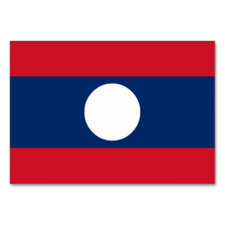 Laos Flag Card