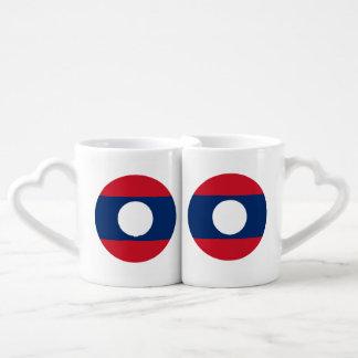 Laos Flag Coffee Mug Set