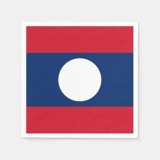 Laos Flag Disposable Serviette