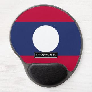 Laos Flag Gel Mouse Pad