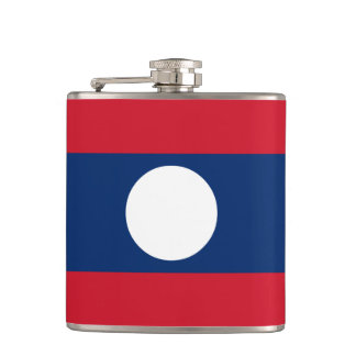 Laos Flag Hip Flask