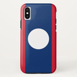 Laos Flag iPhone X Case