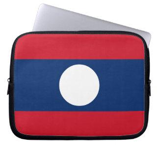 Laos Flag Laptop Sleeve